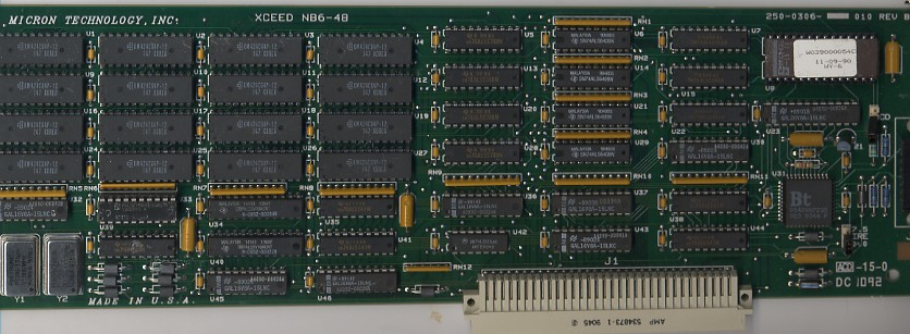 中古 Micron Technology XCEED NB6-48 NuBus ビデオカード 250-0306-